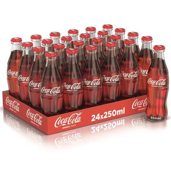 صورة زجاج غير مرتجع 250 مل شد 24 كوكاكولا