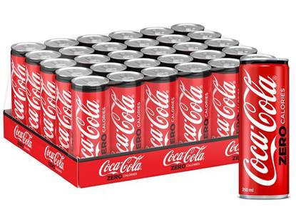 Picture of Coca-Cola Zero Calories Can 250ml 30Pack