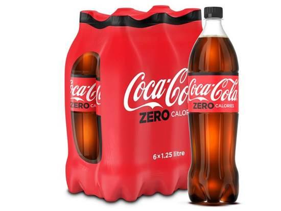 Picture of Coca-Cola Zero Calories PET 1.25L 6Pack