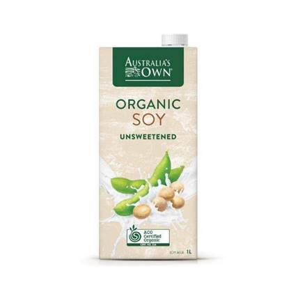 Picture of Australia's Own Organic Unsweetened Soy Milk Lactose Free 1L