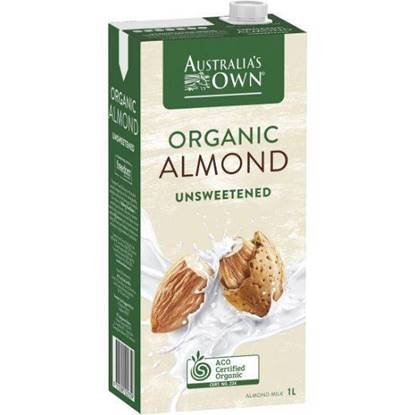 Picture of Australia's Own Organic Unsweetened Almond Milk 1L
