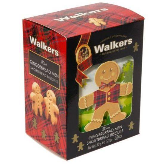 Picture of Walkers Shortbread 3D Carton Mini Gingerbread Men 150gr