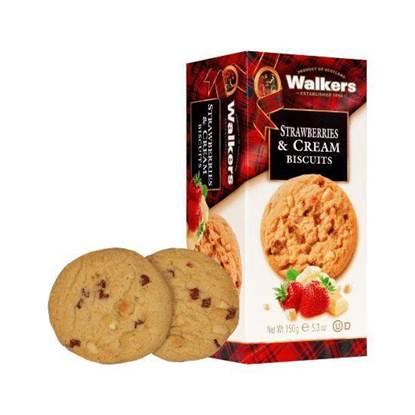 Picture of Walkers Strawberry cookies & cream Cookies 150gr