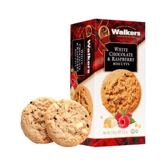Picture of Walkers Cookies with white chocolates and Rasberry Cookies 150gr