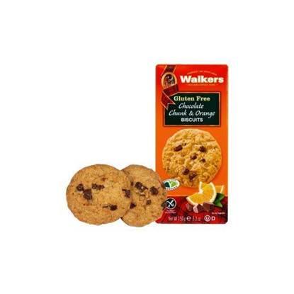 الصورة: واكرز كوكيز قطع الشوكولاتة والبرتقال خالي من الجلوتن 150 جم