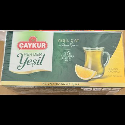 Picture of caykur green tea lemon 25 bags