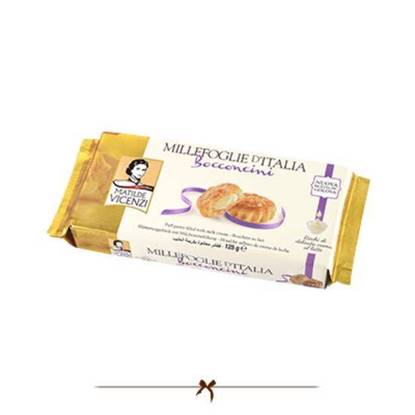 Picture of Vicenzi Puff Pastry filled Milk Cream 125 gr