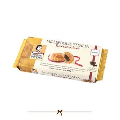Picture of Vicenzi Puff Pastry filled Chocolate Cream 125 gr