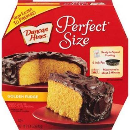 Picture of 184537-DH PS 1 CAKE GOLDEN FUDGE 8/8.4 OZ- Duncan Hines