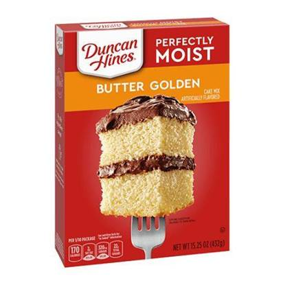 Picture of 340222-DH CAKE MIX BTR RCP GLDN LYR 12/15.25 OZ - Duncan Hines