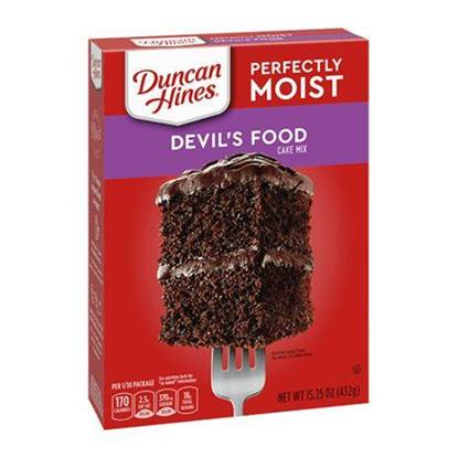 Picture of 340272-DH CAKE MIX DEVIL FOOD LYR 12/15.25 OZ - Duncan Hines