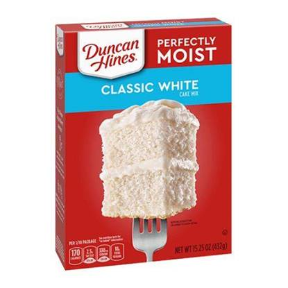 Picture of 340274-DH CAKE MIX CLASIC WHITE LYR 12/15.25 OZ - Duncan Hines