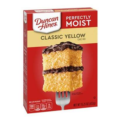 Picture of 340236-DH CAKE MIX CLASIC YELLOW LYR 12/15.25 OZ- Duncan Hines