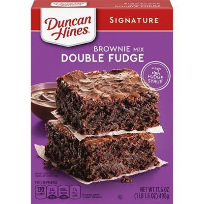 Picture of 340046-DH BROWNIE MIX DECDNT DBL FGE 12/17.6 OZ -Duncan Hines