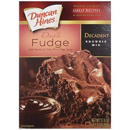 Picture of 341007-DH BROWNIE MIX TRIPLE CHOC 12/18 OZ- Duncan Hines