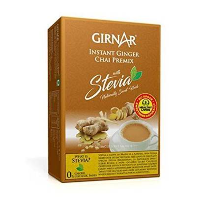 Picture of GIRNAR GINGER CHAI(TEA) W/STEVIA 10 SACHETS - 80 GMS