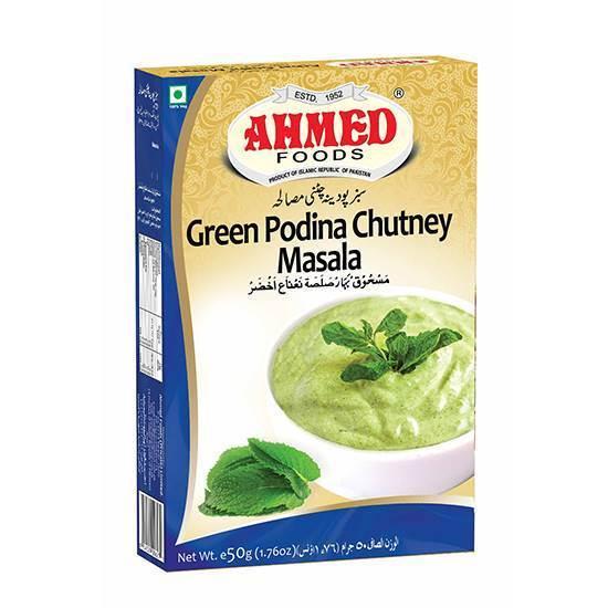 Picture of AHMED GREEN PODINA CHUTNEY MASALA 50 GMS
