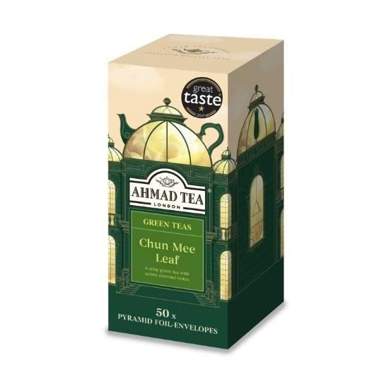 Picture of Ahmad Tea - Pyramid GreenTea Leaf Chun Mee 50x2g