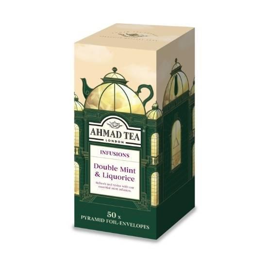Picture of Ahmad Tea - Pyramid Double Mint&Liquorice 50x2g
