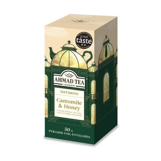 Picture of Ahmad Tea - Pyramid Camomile & Honey 50x2g