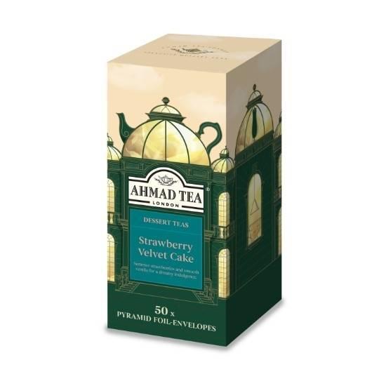 Picture of Ahmad Tea - Pyramid Strawberry Velvet Cake 50x2g