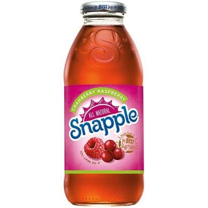 Picture of SNAPPLE CRANBERRY RASPBERRY  DRINK 473 ML - 4 (3+1FREE)