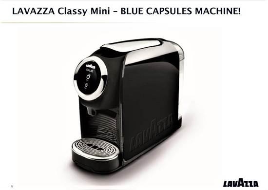 صورة لافازا كبسولة القهوه بدون كافيين الازرق 4*100+ ماكينة مجانا
