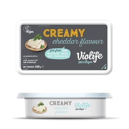 Picture of VIOLIFE CREAMY CHEDDAR FLAVOUR 150 GM VEGAN