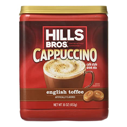 Picture of HILLS BROS Ctns English Toffee Cappuccino 453g