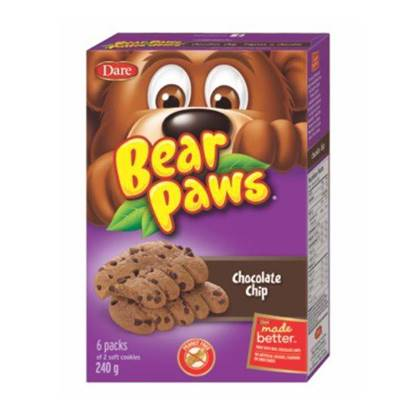Picture of Dare Bear Paws Chocolate Chips Soft Cookies 240g