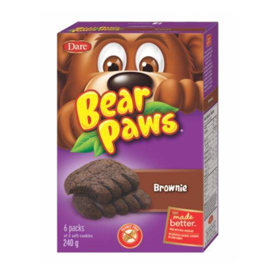 Picture of Dare Bear Paws Brownie Soft Cookies 240g