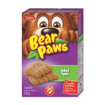 Picture of Dare Bear Paws Baked Apple Soft Cookies 240g