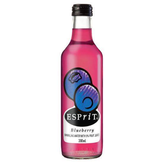Picture of ESPIRIT BLUEBERRYS SPARKLING WATER WITH 5% FRUIT JUICE 24X300ML