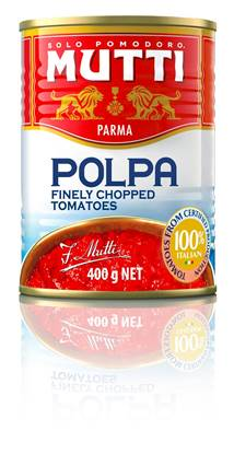 Picture of MUTTI POLPA FINELY CHOPPED TOMATO (POMODORO) 12X400GM - 41054