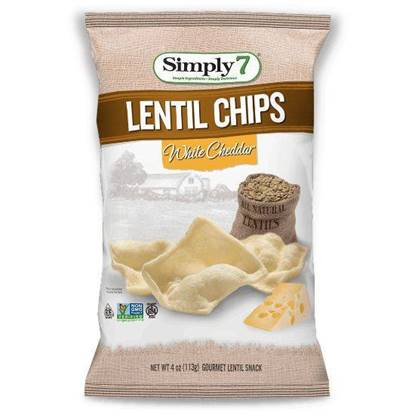 Picture of Simply7 Lentil Chips White Cheddar