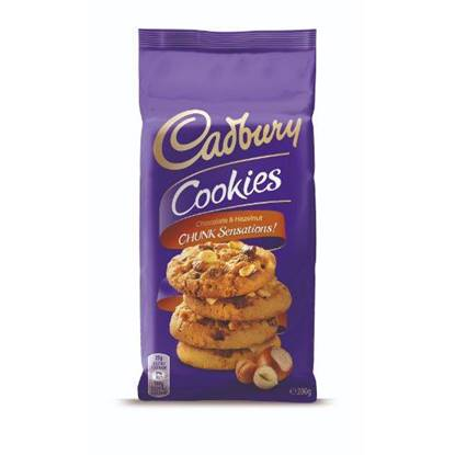 Picture of CADBURY Cookies Chocolate & Hazelnut Chunk Sensations