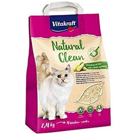 صورة قمامة القطط الطبيعي من الذرة
