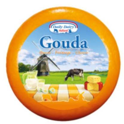 Picture of DAILY DAIRY GOUDA 48% FAT IDM CUMIN 4.4.5KG WHEEL