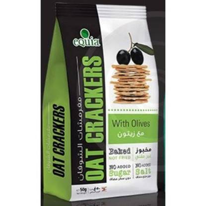 Picture of EQUIA - OAT CRAKERS WITH OLIVES 50 G *12 BAGS