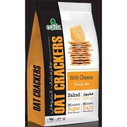 Picture of EQUIA - OAT CRAKERS WITH CHEESE 50 G *12 BAGS