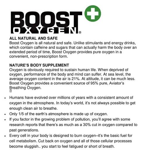 Picture of Boost Oxygen Menthol-Eucalyptus scented 95% Pure Supplemental Oxygen in a Portable Canister, 9 Liters