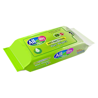 Picture of All day Antibacterial Wet Wipes (10wipes) x 40