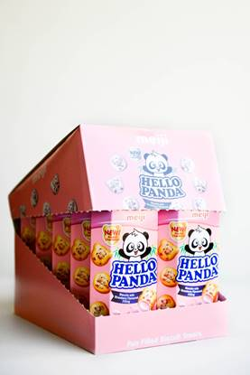 Picture of Meiji Hello Panda Biscuit Strawberry Normal 50g*10