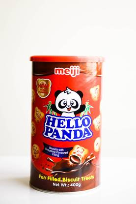 Picture of Meiji Hello Panda Biscuit Choco Can 400g*12