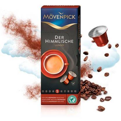 Picture of MovenPick DER HIMMLISCHE LUNGO (53g) 10 CAPSULES Compatible with NESPRESSO Machine