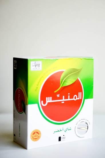 صورة شاي أخضر أكياس المنيس200 جم 100 كيس