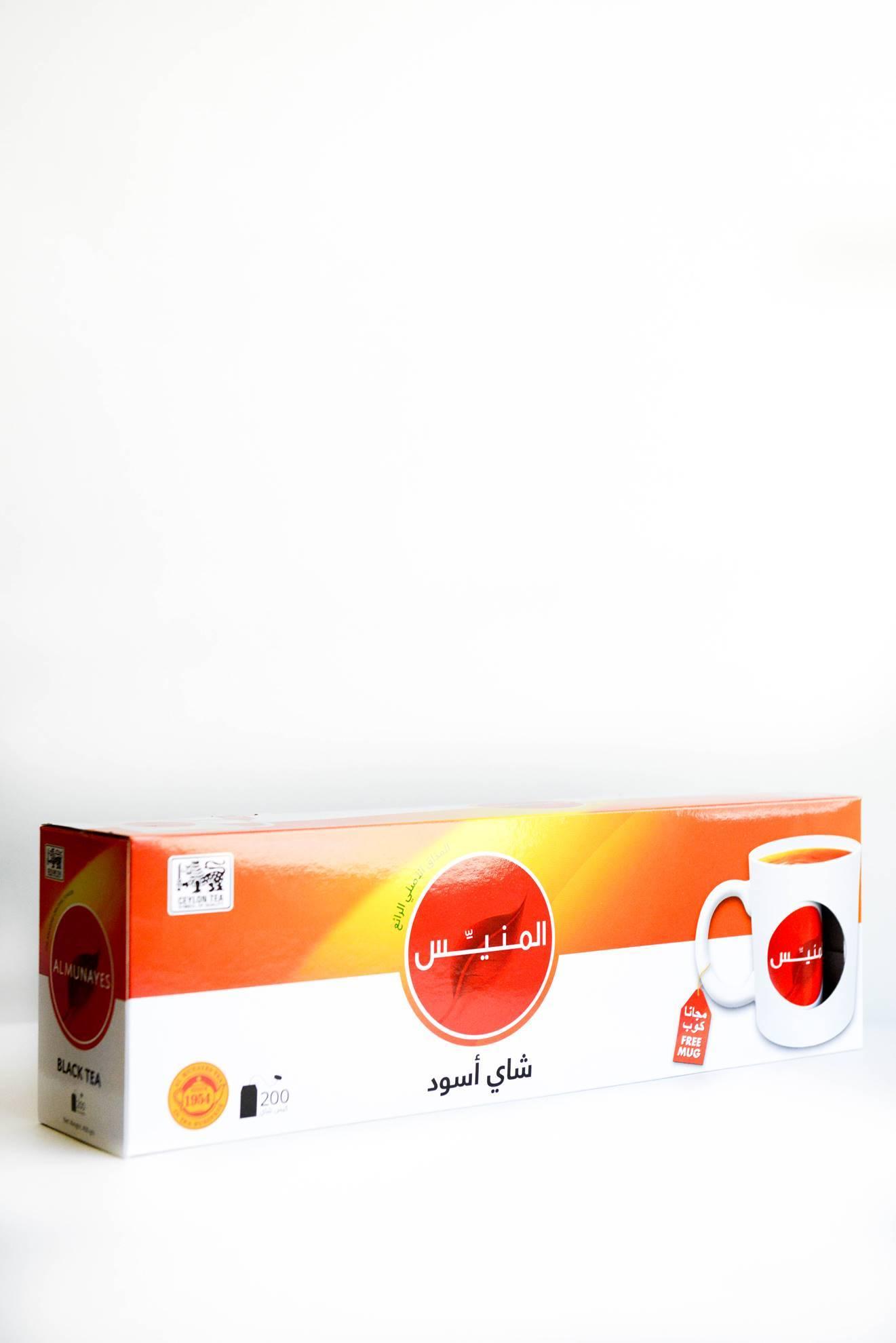 Picture of  Almunayes Black Tea 200 bags+ mug