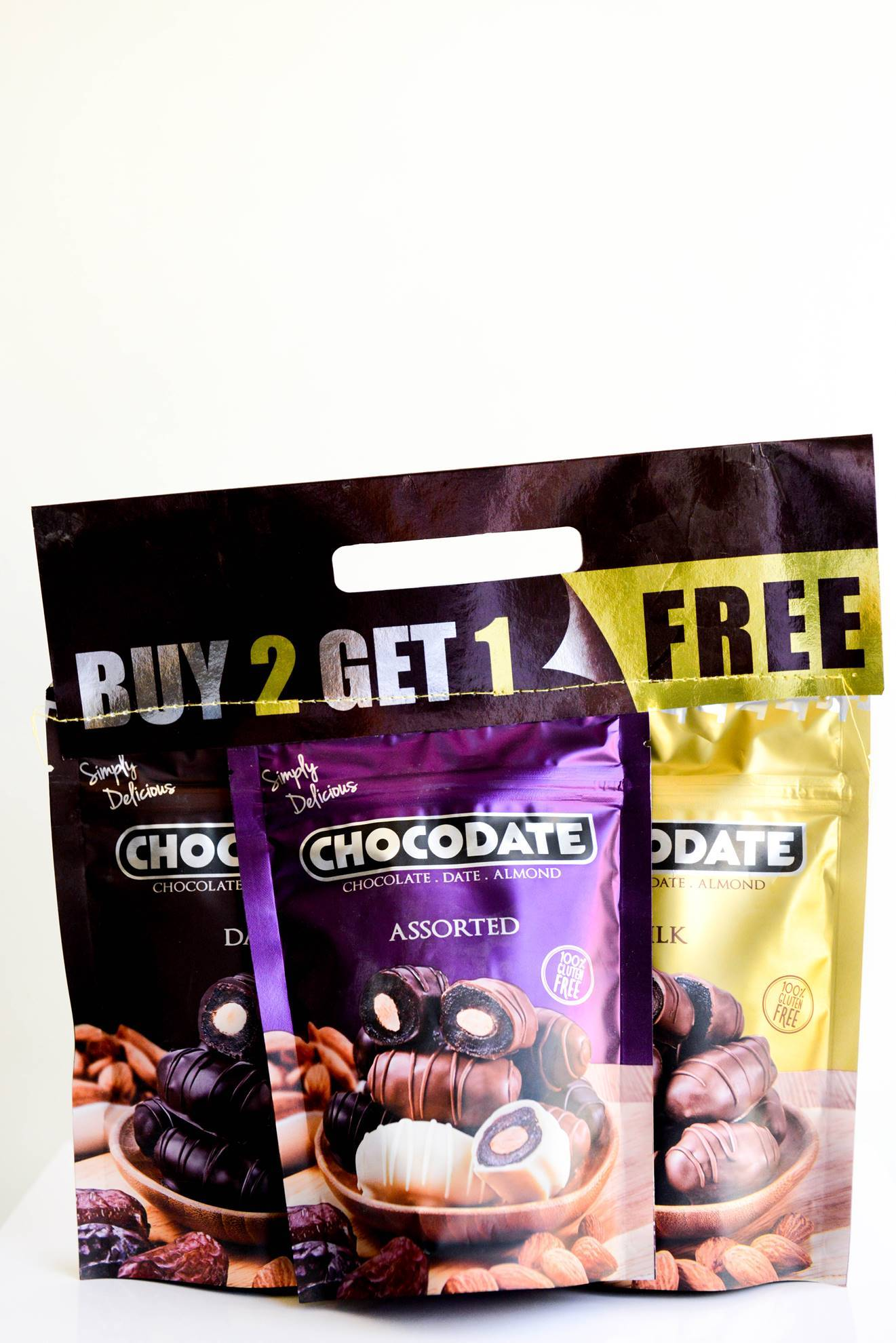 Picture of Chocodate extra assorted 2+1