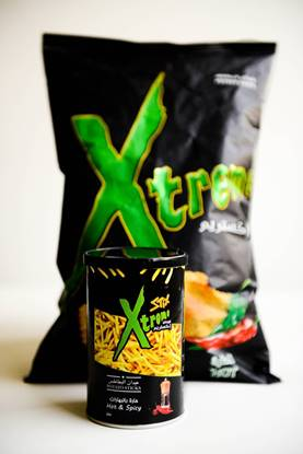 Picture of potato  xtrem hot 185 gm