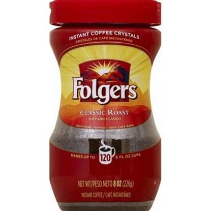 الصورة: فولجرز قهوة فورية بلورات كلاسيك محمصة 226 جم